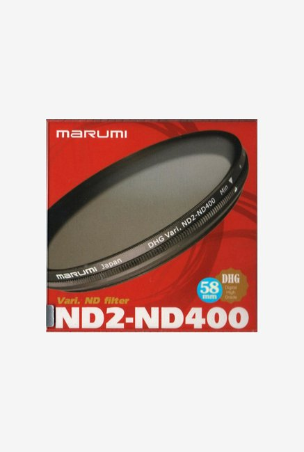 Marumi 58mm 58 DHG Vari ND Nd2 To Nd400 400 (Black)
