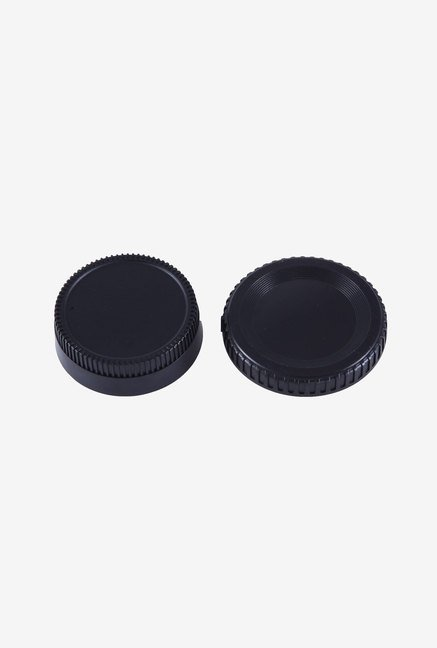 Movo Photo Lens Mount Cap and Body Cap for Nikon DSLR Camera