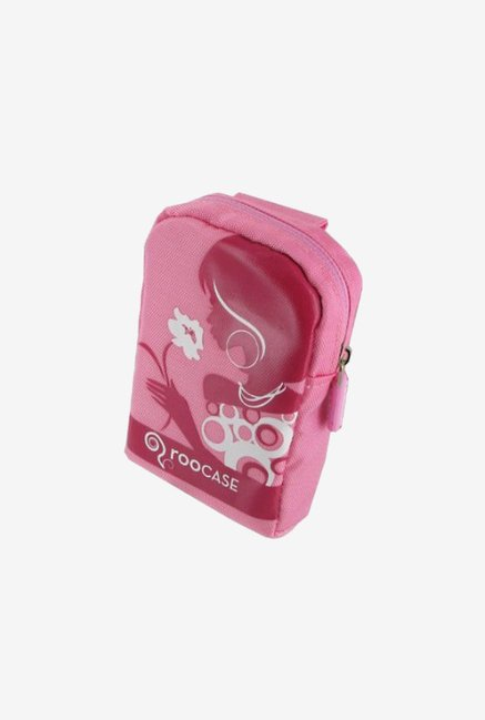 rooCASE Nylon Padded Case for Casio EX-Z550 (Pink/Red)