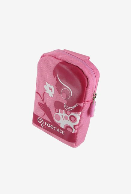 rooCASE Nylon Padded Case for Point and Shoot Camera (Pink)