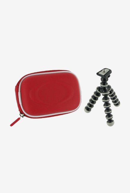 rooCASE Carrying Case with Tripod for PowerShot A3300 (Red)