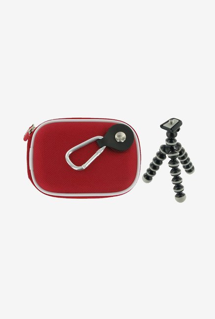 rooCASE Carrying Case with Tripod for Samsung SH-100 (Red)