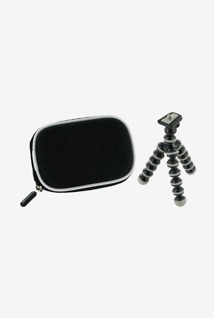 rooCASE Carrying Case with Tripod for Lumix DMC-S3 (Black)