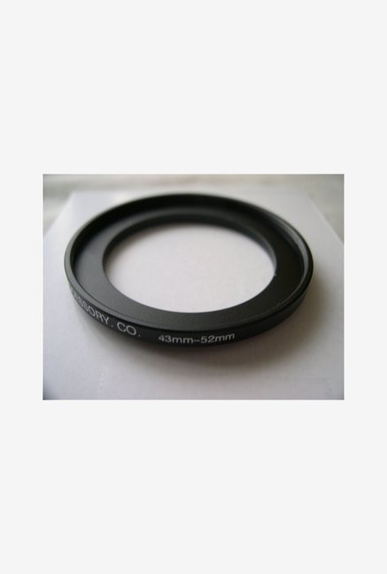 HeavyStar Dedicated Metal Step-Up Ring 43mm to 52mm (Black)