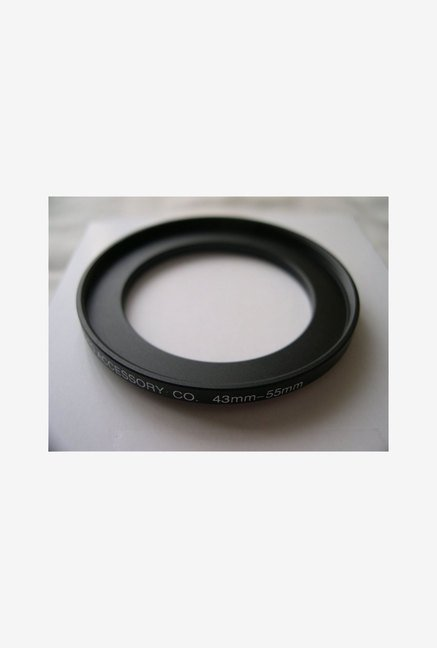 HeavyStar Dedicated Metal Step-Up Ring 43mm to 55mm (Black)