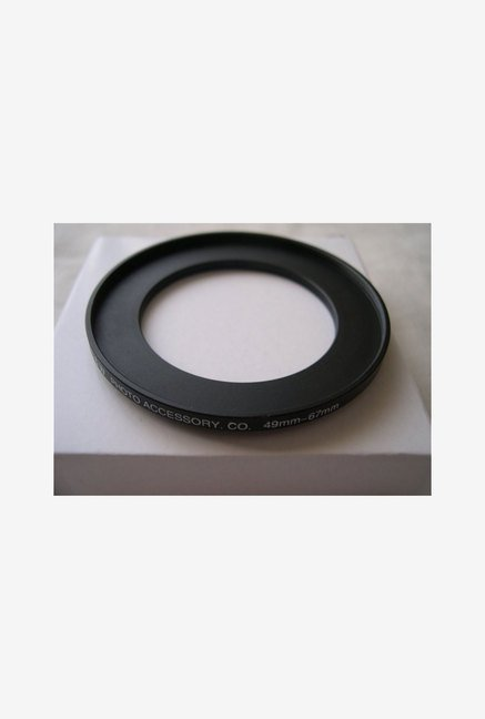 HeavyStar Dedicated Metal Step-Up Ring 49mm to 67mm (Black)