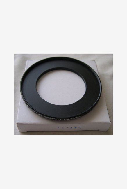 HeavyStar Dedicated Metal Step-Up Ring 52mm to 77mm (Black)