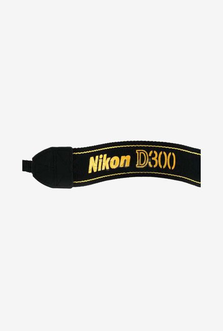 Nikon AN-D300 Replacement Neck Strap for D300 DSLR (Black)