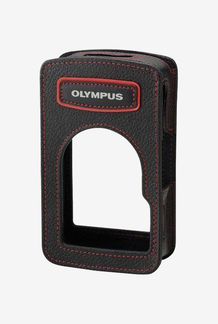 Olympus Leather Body Jacket for Tg-1/Tg-2 (Black/Red)