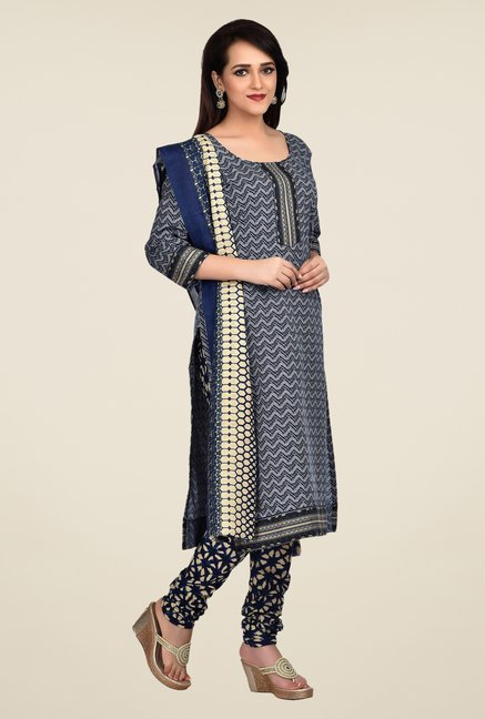 Shonaya Blue Printed Dress Material