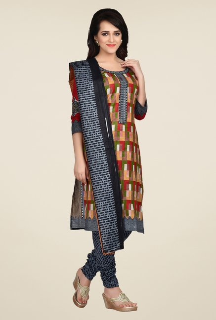 Shonaya Multicolor Printed Dress Material