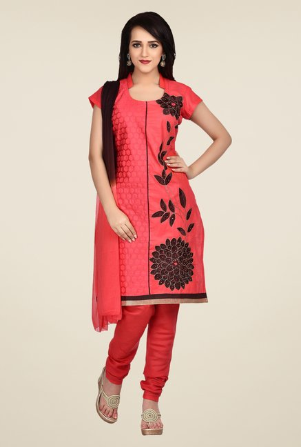 Shonaya Coral Embroidered Dress Material