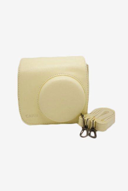 Caiul Soft PU Leather Instax Mini 8 Camera Case Bag (Cream)
