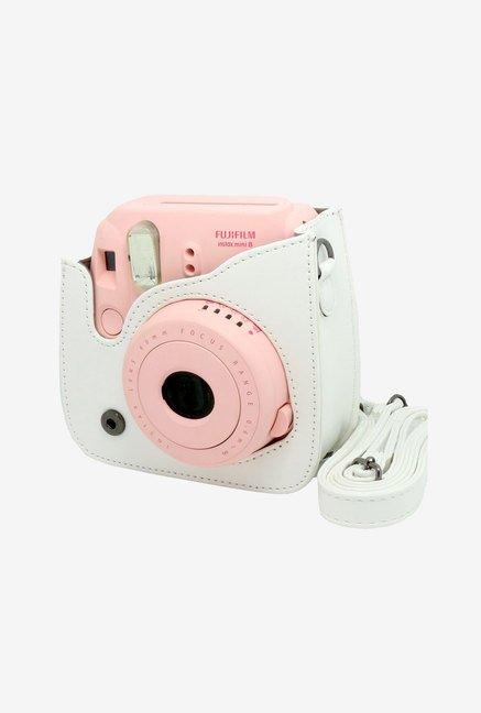 Caiul Soft PU Leather Instax Mini 8 Camera Case Bag (White)