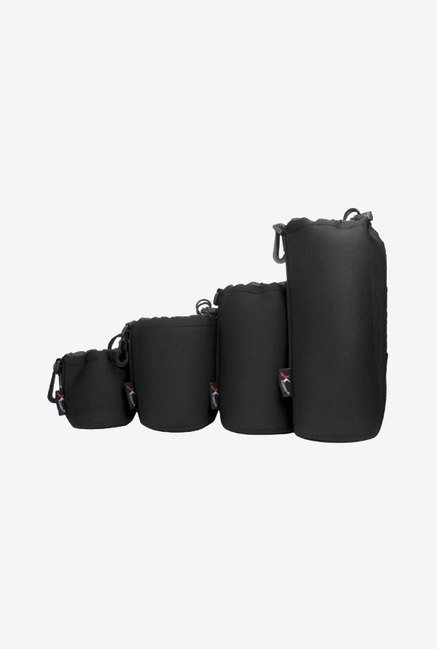 Xcsource Black 4 Pcs Dslr Camera Drawstring Soft Neoprene Lens Pouch Bag Cover For Sony Canon Nikon Pentax Olympus Panasonic