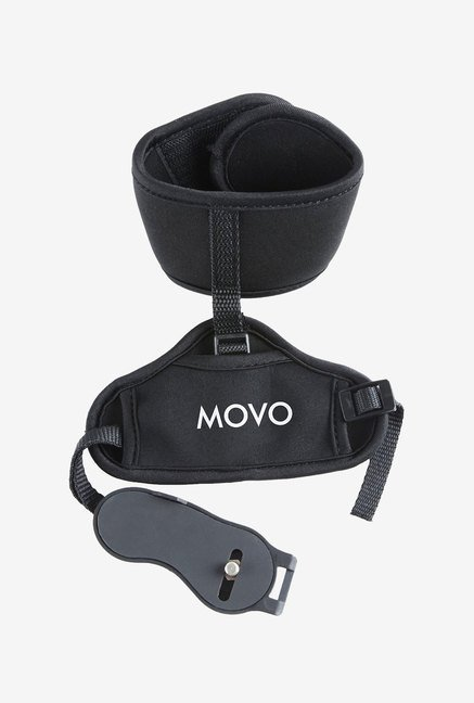 Movo HSG-7 Deluxe Neoprene Dual Wrist & Grip Strap (Black)