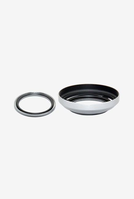 Fotasy Metal Lens Hood, Adapter with Filter (Silver)