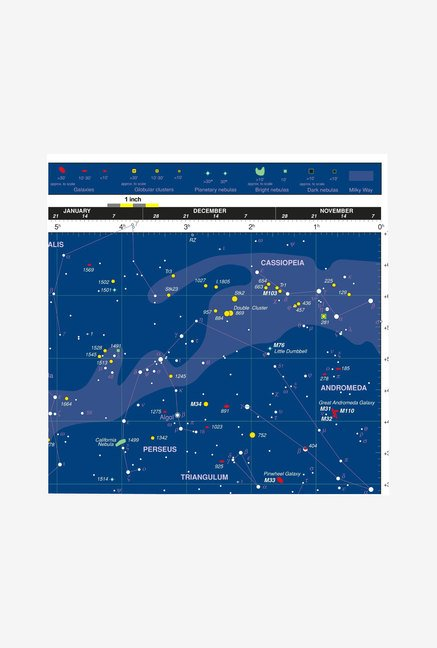 Orion 4150 Deepmap 600 Folding Star Chart (Blue)