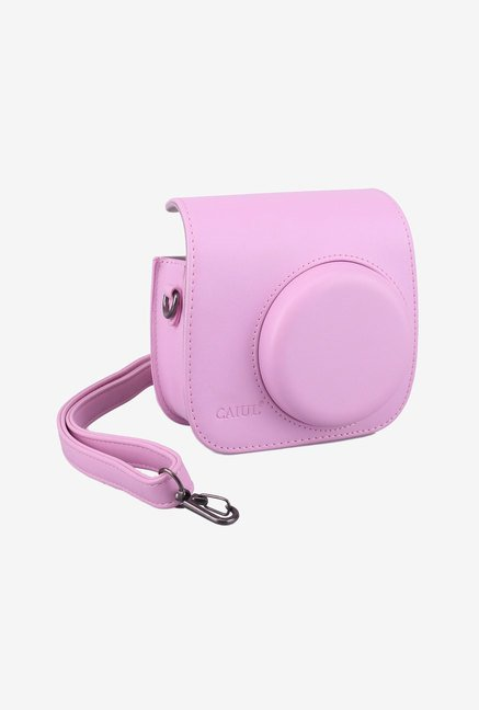 Caiul Soft PU Leather Instax Mini 8 Camera Case Bag (Pink)