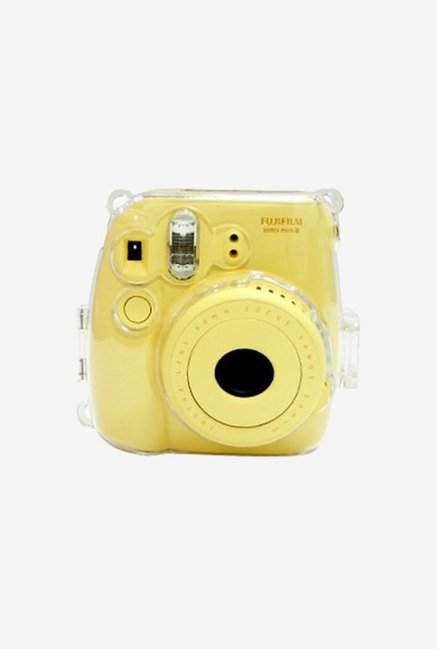Caiul Soft PU Leather Instax Mini 8 Camera Case Bag (Yellow)