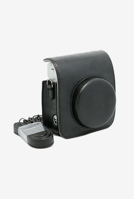 Caiul Soft PU Leather Instax Mini 90 Camera Case Bag (Black)