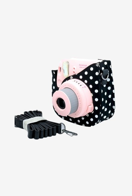 Caiul Colourful Dots Instax Mini 8 Camera Case Bag (Black)
