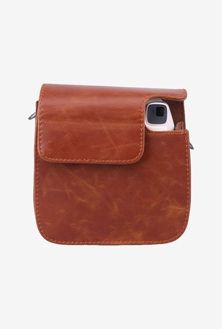 Caiul Soft PU Leather Instax Mini 8 Camera Case Bag (Brown)