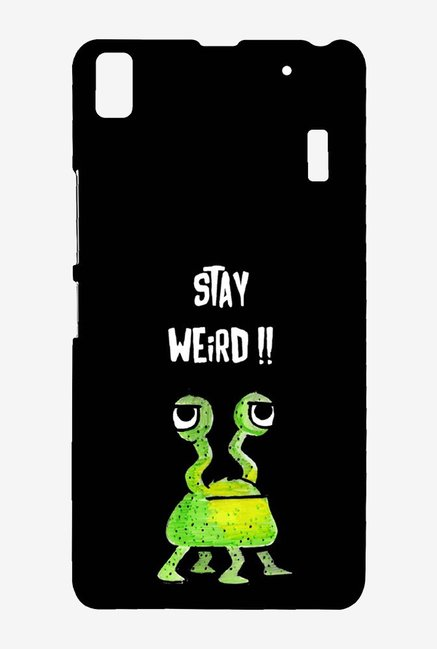 Kritzels Stay Weird Black Case for Lenovo A7000