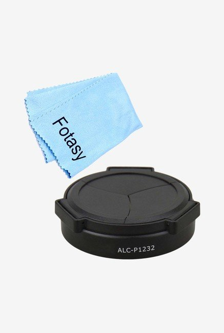 Fotasy APPS1232 Auto Lens Cap & Cleaning Cloth Kit (Black)