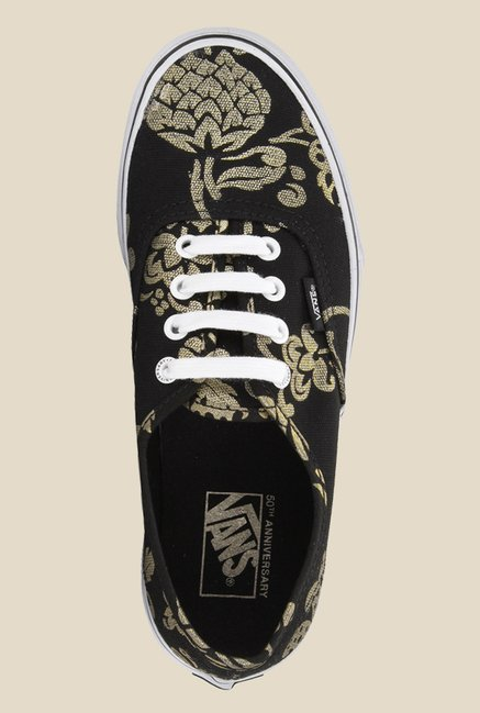 Vans Authentic Black & Golden Sneakers