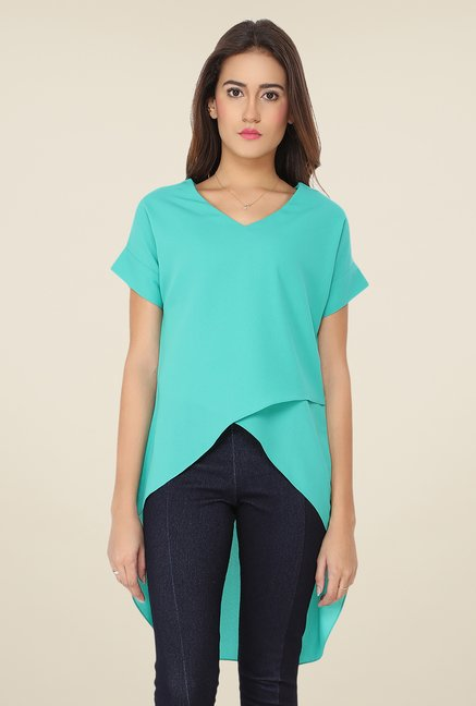 Soie Turquoise Solid Top