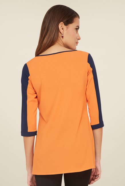 Soie Orange Solid Top
