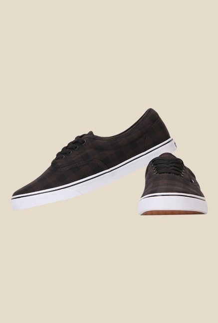 Vans LPE Dark Brown & Black Sneakers