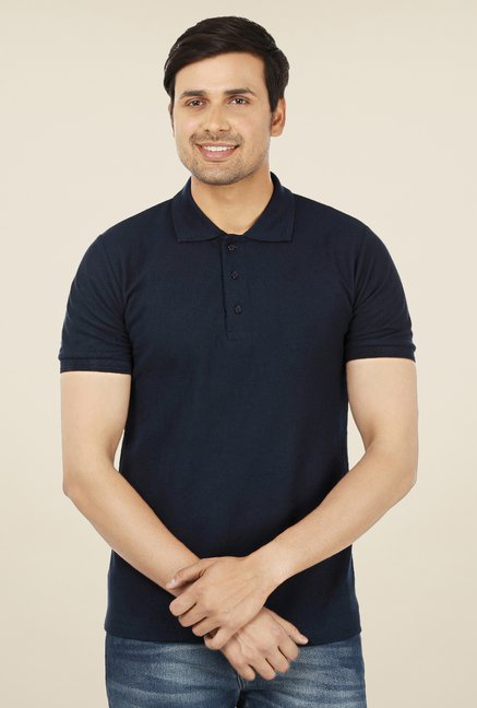Weardo Navy Polo T Shirt