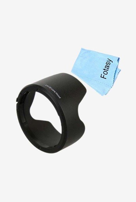 Fotasy HEW72 Lens Hood And Cleaning Cloth (Black)