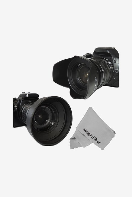 Goja 58mm Lens Hood Set For Canon Cameras (Black)