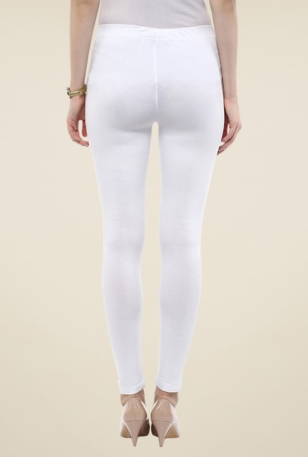Yepme White Tracey Essential Leggings