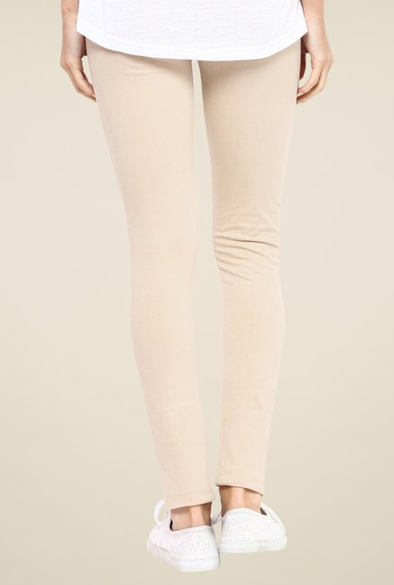 Yepme Beige Tracey Essential Leggings