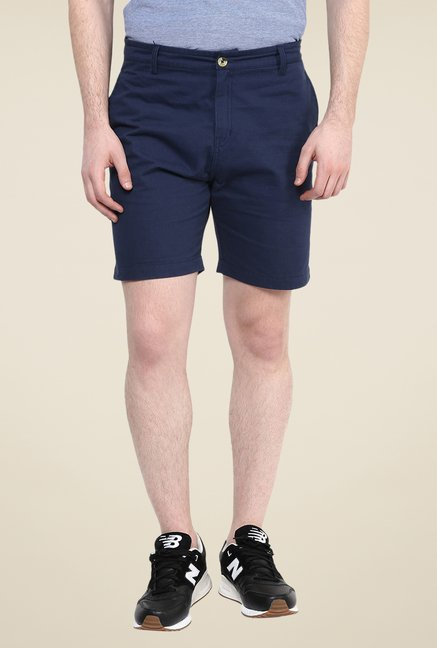 Yepme Navy Solid Greg Shorts