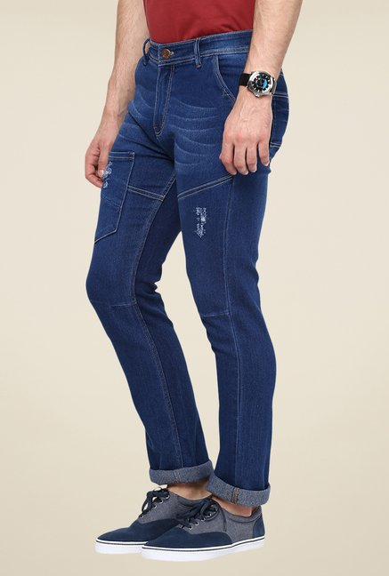 Yepme Blue Southee Dark Wash Jeans
