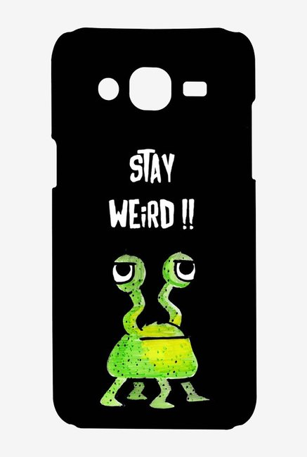 Kritzels Stay Weird Black Case for Samsung Grand Prime
