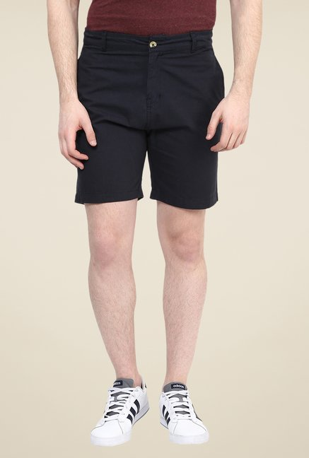 Yepme Black Solid Alan Shorts
