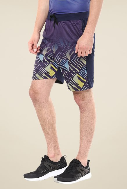 Yepme Blue Hale Dot Matrix Shorts