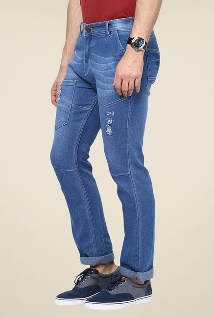 Yepme Blue Southee Medium Wash Jeans