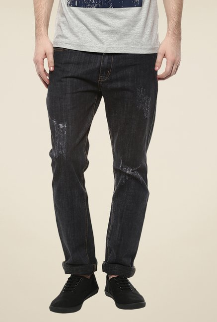 Yepme Black Brendan Acid Wash Jeans
