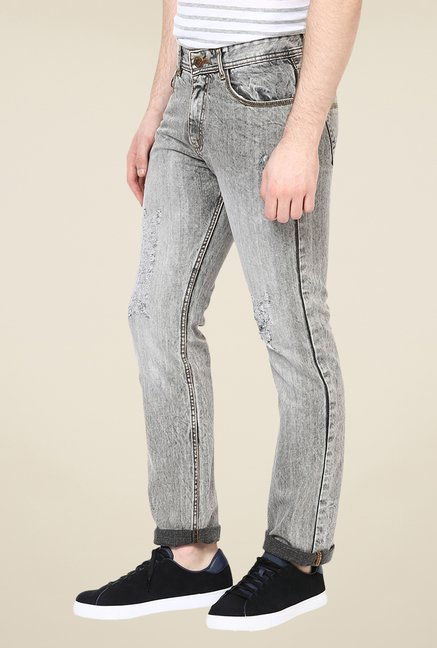 Yepme Grey Brendan Acid Wash Jeans