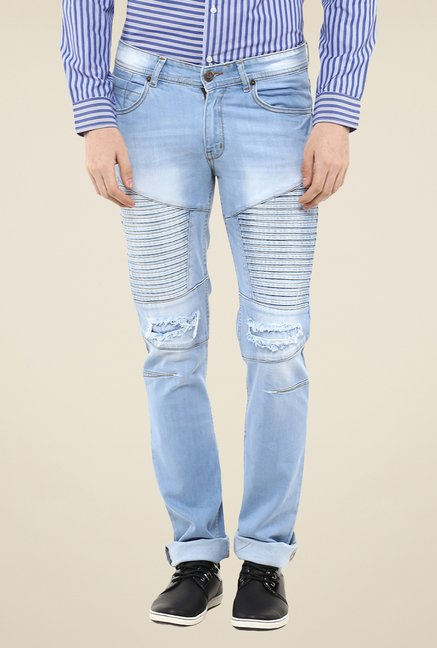Yepme Light Blue Aliestar Moto Jeans