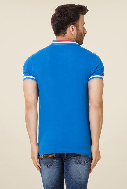 Spunk Blue Taping Polo T-shirt
