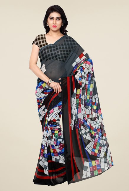 Shonaya Multicolor Printed Georgette Saree