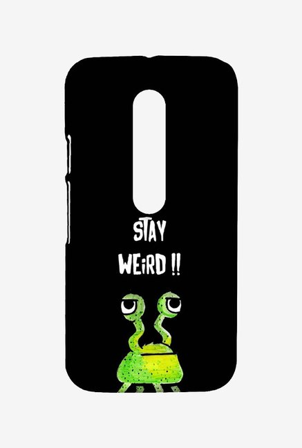 Kritzels Stay Weird Black Case for Moto G Turbo